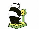 ダンスでダイエットして効果の出始めたパンダ